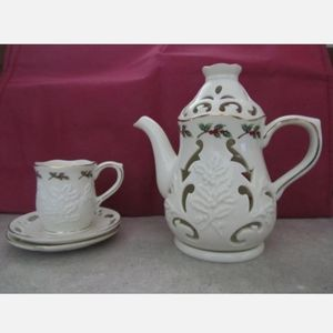 Partylite Teapot And Cup Tealight candle holder